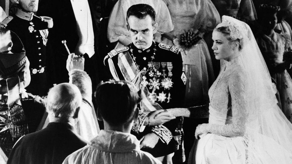 Prinz Rainier heiratet Grace Kelly 1956 in Monaco (Archivbild)